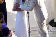 El vestido de novia de Milla Jovovich