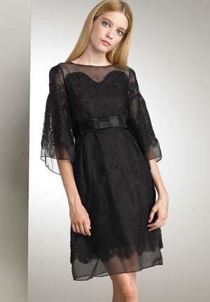 vestidos encaje negro