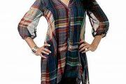 Modelos de blusas con cuadros escoceses