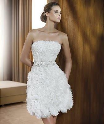 vestidos cortos de novia | aquimoda