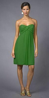 Vestidos de boda verdes cortos