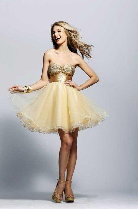 vestidos dorados para fiestas de aos