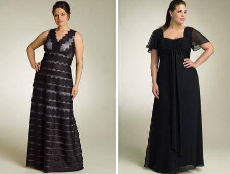 Patrones de vestidos de noche para gorditas