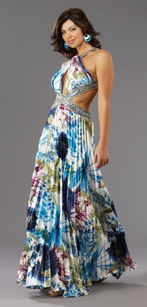 Vestidos de fiesta largos elegantes estampados
