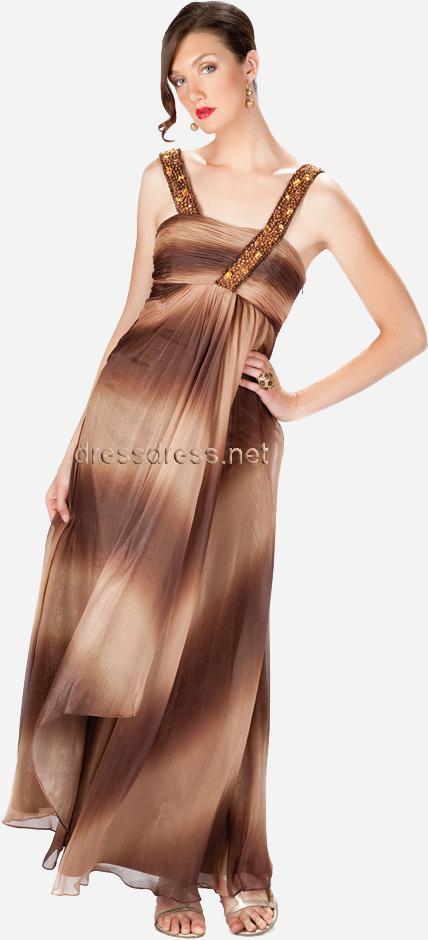 vestidos marron de fiestas