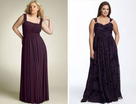 long dresses for chubby