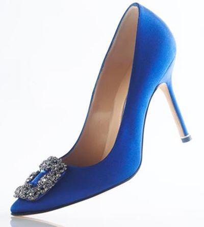 zapatos de fiesta color azul