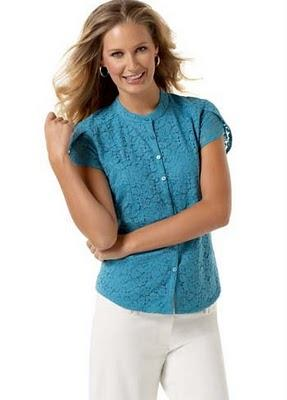 blusas de color azul