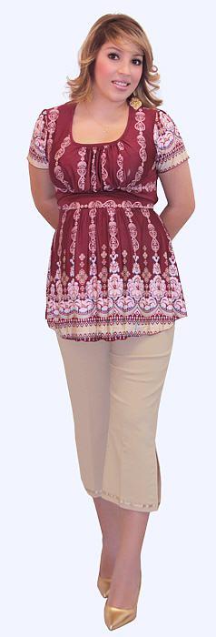 vestidos y blusas para gorditas