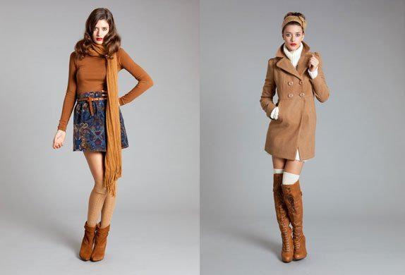 ropa en color marron