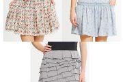 Faldas y blusas con plisados y volantes