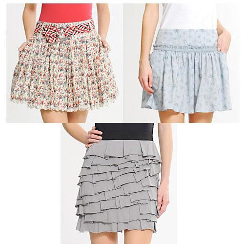 faldas con capas