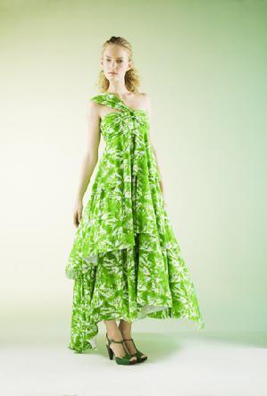 vestidos colores verdes