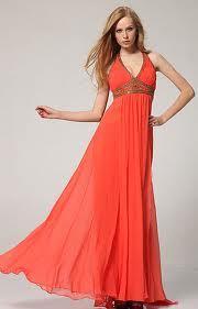 vestidos cortos anaranjados