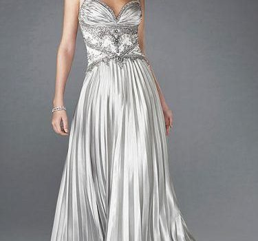 vestidos de fiesta plateados