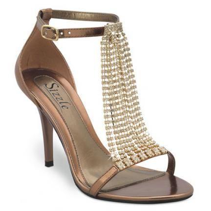 zapatos de fiesta en dorado y plateado