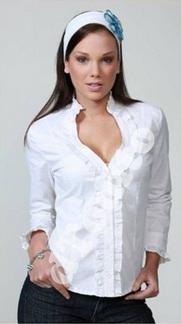 blusas manga corta