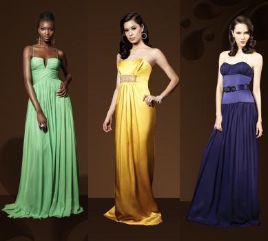 vestidos de fiesta de colores