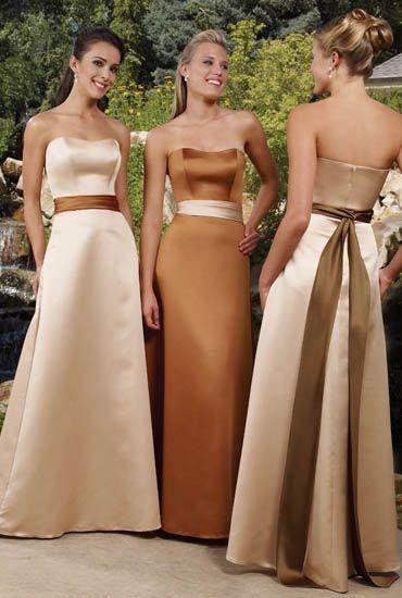 Vestidos de corte de honor novia
