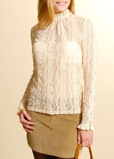 blusas modernas de encaje