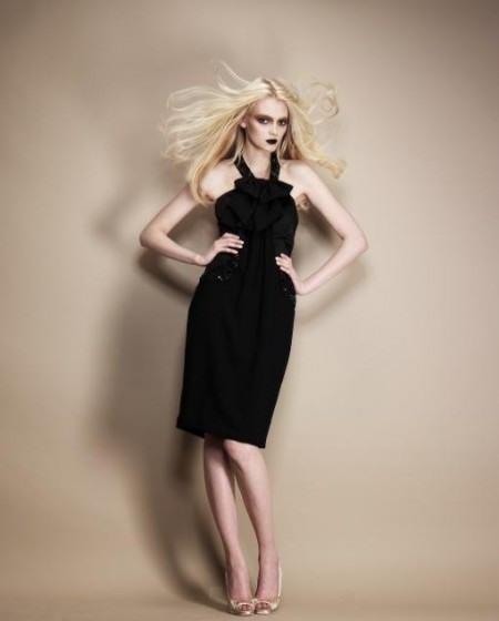 vestidos tonos dorados y negros