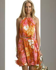 vestidos floreados modernos