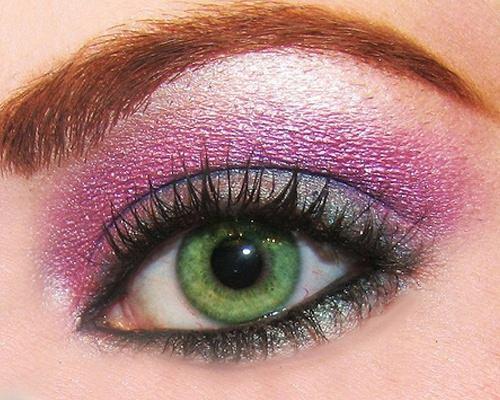 maquillaje para ojos colores fuertes