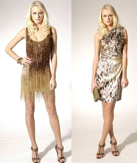 vestidos dorados de fiesta