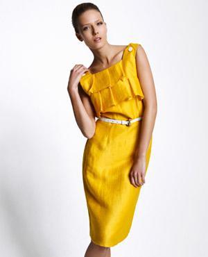 vestidos casuales color amarillo