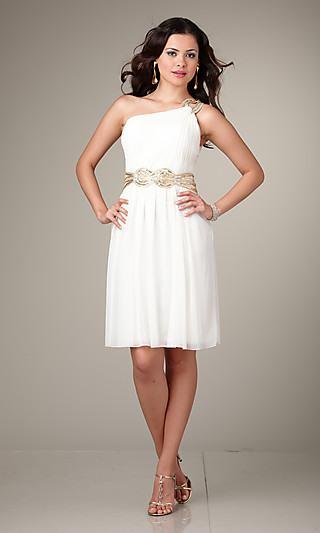 Vestido blanco diseño imperial