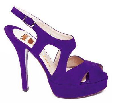 zapatos color morado de moda