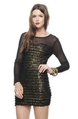 vestidos en dorado