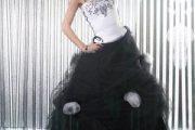 Vestidos Emo para fiesta de 15 color negro y blanco