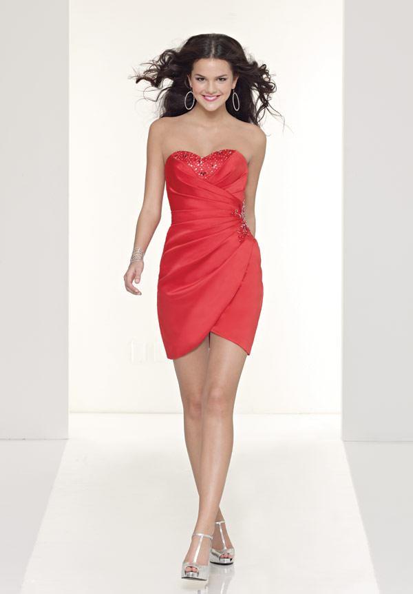 vestidos cortos rojos