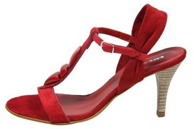 sandalias colo rojo