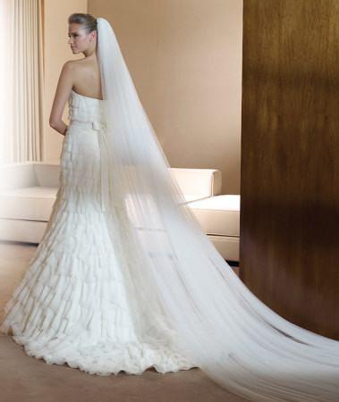 trajes blancos de novia
