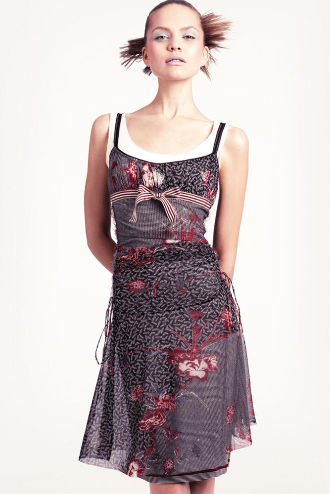 vestidos de gasa estampada