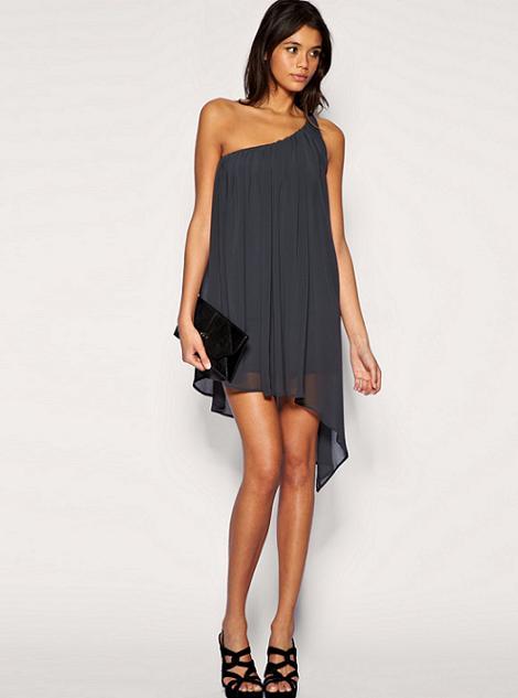 vestidos de gasa color negro