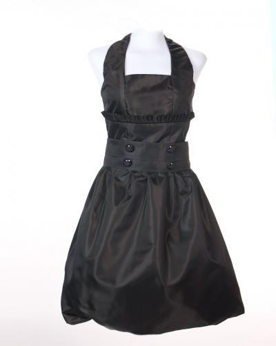 traje negro corto