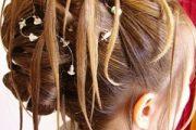 Peinados para novias con flores, complementos de novia
