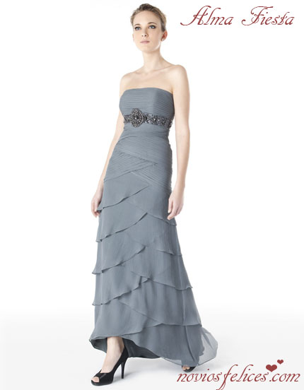 vestidos color plata