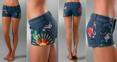 shorts modernos de mujer