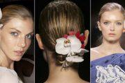 Peinados con flores para quinceañeras