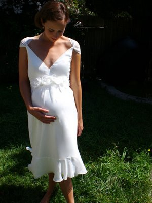 vestidos blancos para embarazadas