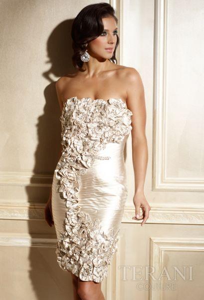 vestidos cortos color plata