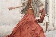 Faldas largas, una moda femenina