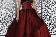 Vestidos para quinceañeras color rojo oscuro