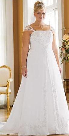 vestidos blancos para novias gorditas