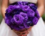 Bouquets de novia en color morado