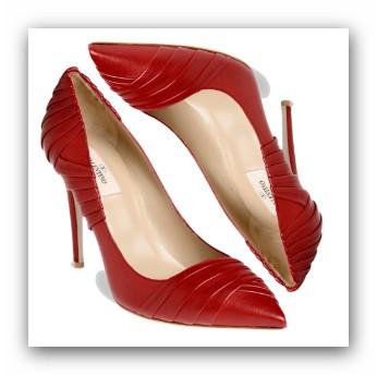zapatos de color rojo